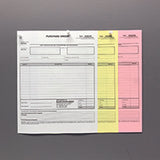 "Carbonless NCR Forms Printing 3-Part 8.5""x11"" 1-Side Grayscale - NCR Print Canada"