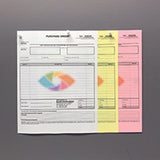 "Carbonless NCR Forms Printing 3-Part 8.5""x11"" 1-Side Full Colour - NCR Print Canada"