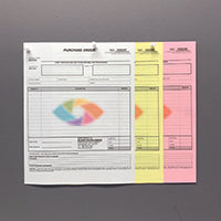 "Carbonless NCR Forms Printing 3-Part 5.5""x8.5"" 1-Side Full Colour - NCR Print Canada"
