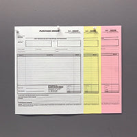 "Carbonless NCR Forms Printing 3-Part 5.5""x8.5"" 1-Side Grayscale - NCR Print Canada"