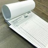 "Carbonless NCR Forms Printing 4-Part 5.5""x8.5"" 2-Side Grayscale"