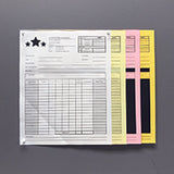 "Carbonless NCR Forms Printing 4-Part 5.5""x8.5"" 1-Side Grayscale - NCR Print Canada"