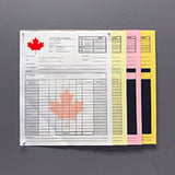 "Carbonless NCR Forms Printing 4-Part 5.5""x8.5"" 1-Side Full Colour - NCR Print Canada"