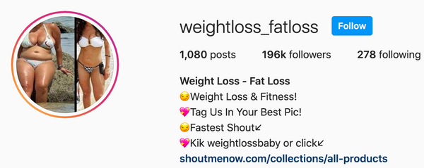 Weightloss_Fatloss Feature - 196,000 Followers