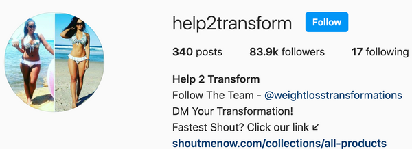 Help2transform Feature - 83,000 Followers!