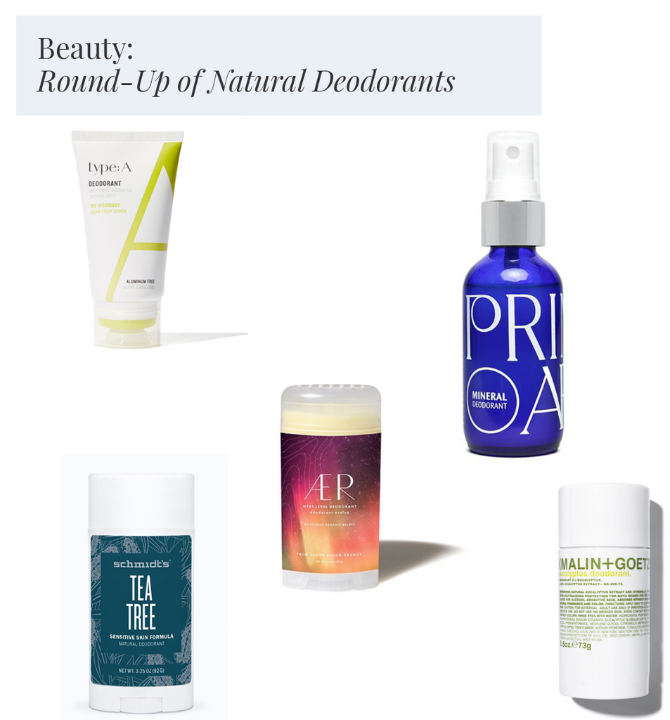 Beauty: Round-Up of Natural Deodorants that Work