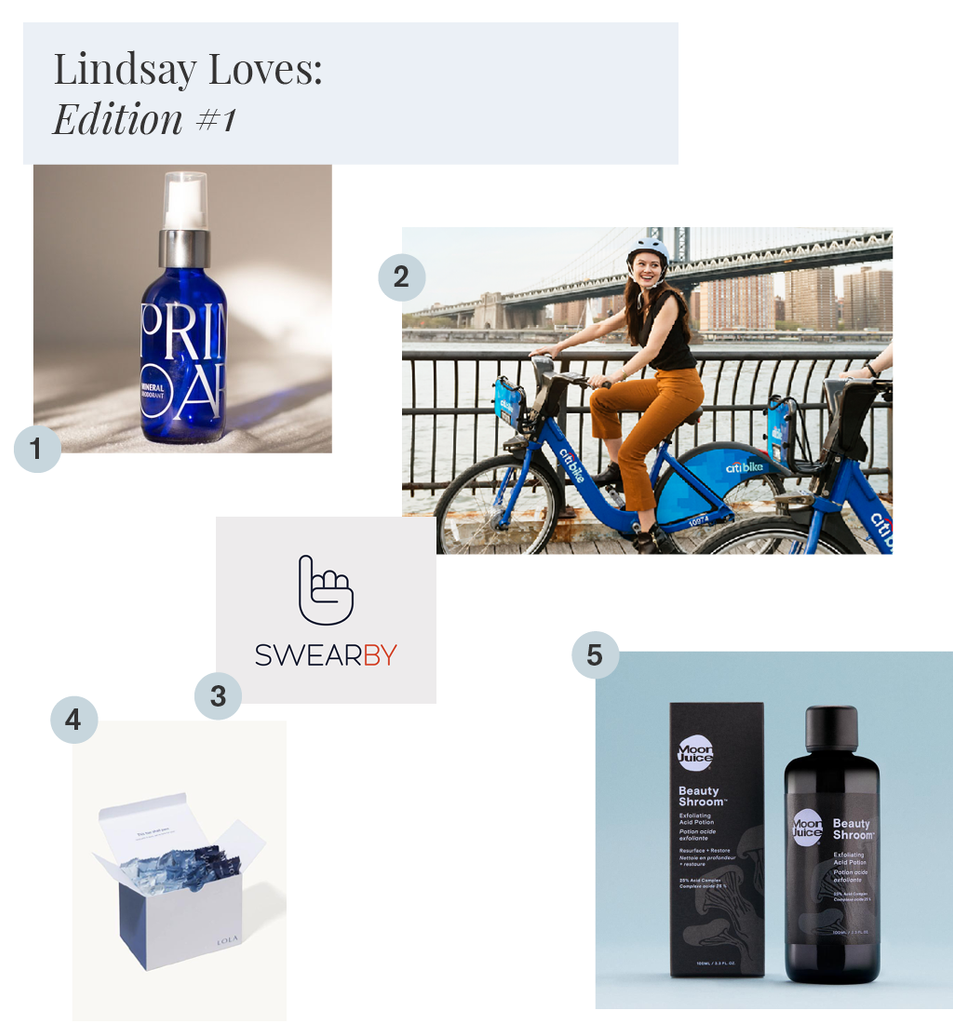 Lindsay's favorite clean beauty products