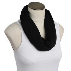 Solid Black Nursing Scarf