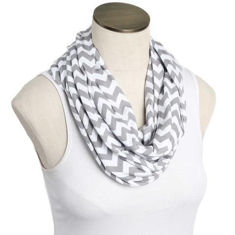 Skinny Gray & White Extra Soft Nursing Scarf