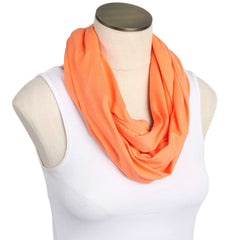 Sunset Orange 100% Organic Cotton Nursing Scarf