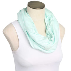 Icy Mint 100% Organic Cotton Nursing Scarf