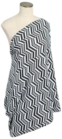 Black & White Broken Chevron Nursing Scarf