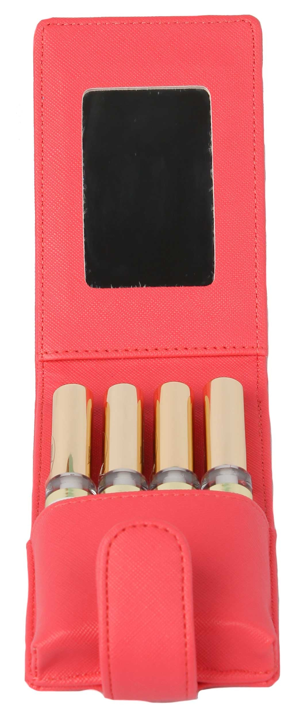 Lipstick Lip Pouch and Carrying Case Coral