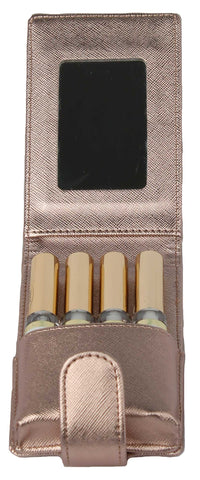 Lipstick Lip Pouch and Carrying Case Rose Gold
