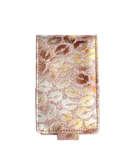 Lipstick Lip Gloss Pouch Carrying Case Glitter Rose Gold Lips