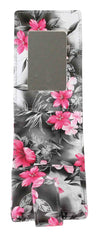 Lipstick Lip Gloss Pouch Carrying Case Gray, Black and Pink Floral