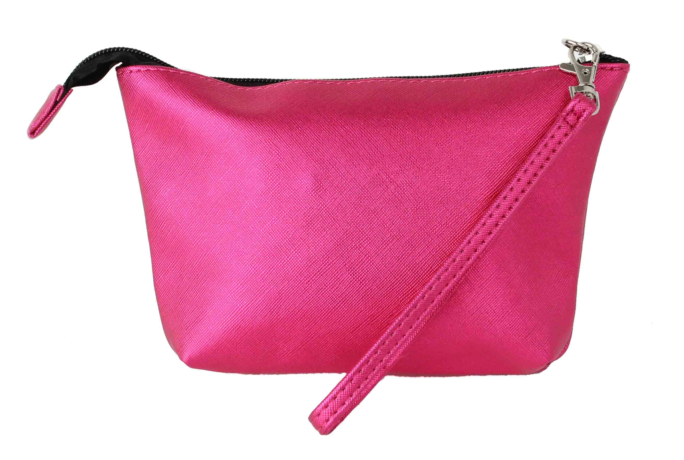 Zippered LipStick Carrying Case Hot Pink