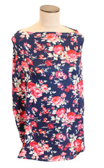 Navy Spring Floral Multi-Use Stretchy Car Seat Cover and Nursing Poncho All In One, New Baby Gift