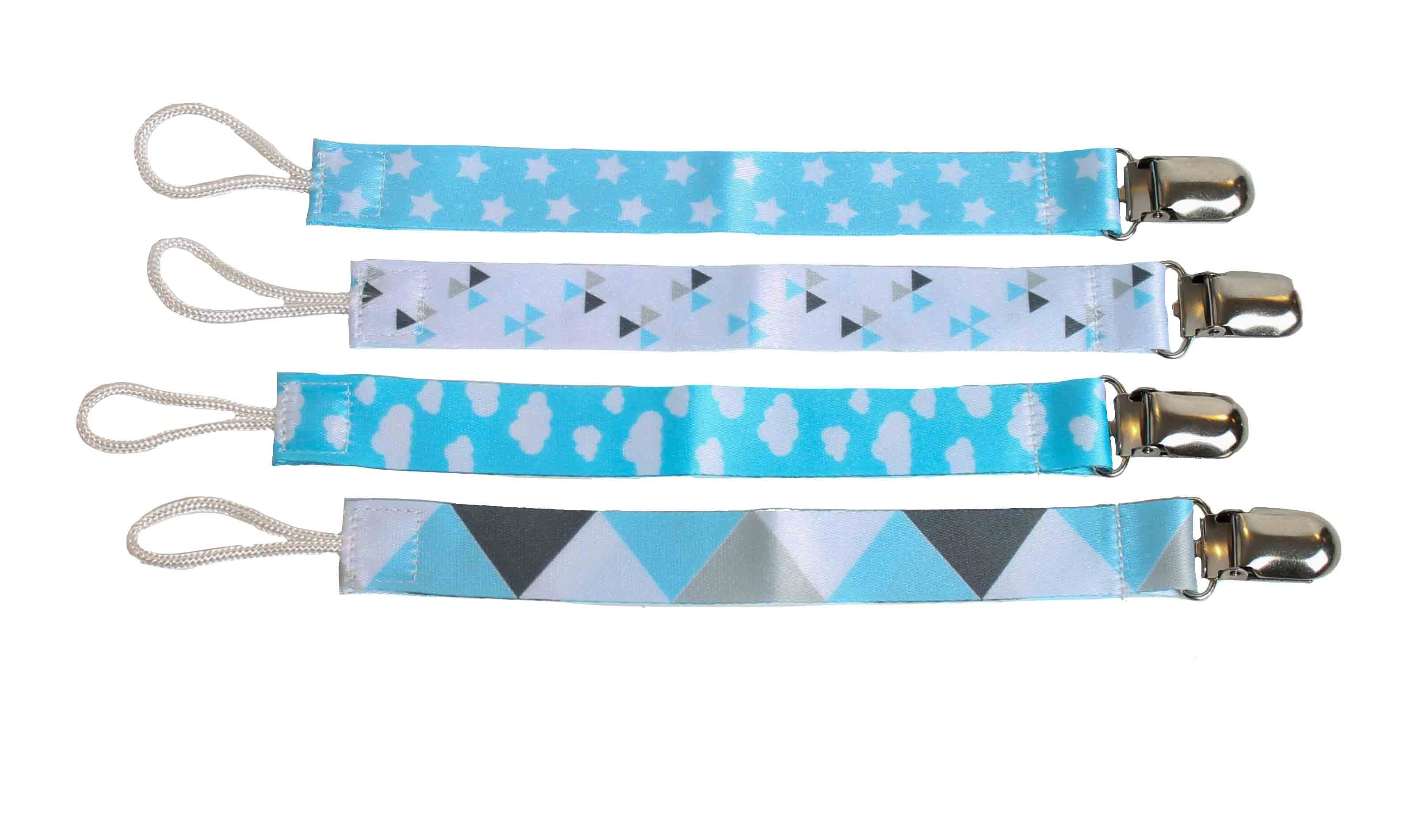 Baby Blues set of 4 Pacifier Clips
