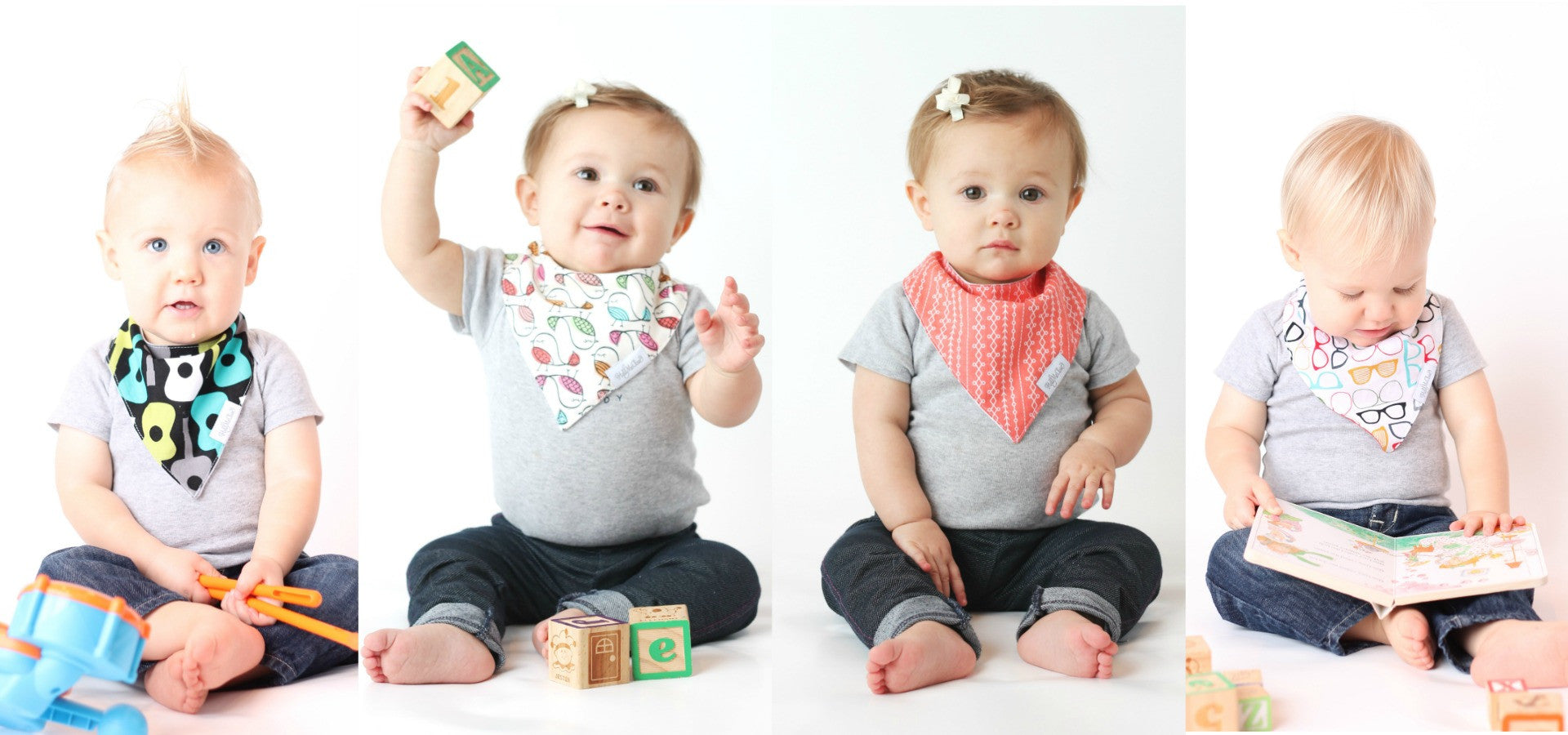 Hold Me Close Bandana Bib Sets