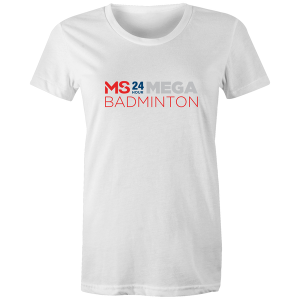 MS 24 Hour Mega Badminton Event T-Shirts - WOMENS