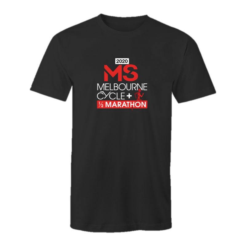 2020 MS Melbourne Cycle + Half Marathon Event T-Shirt - MENS