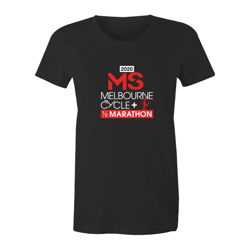 2020 MS Melbourne Cycle + Half Marathon Event T-Shirt - WOMENS
