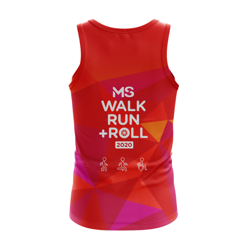 MS Walk Run + Roll 2020 Event Run Singlet - MENS