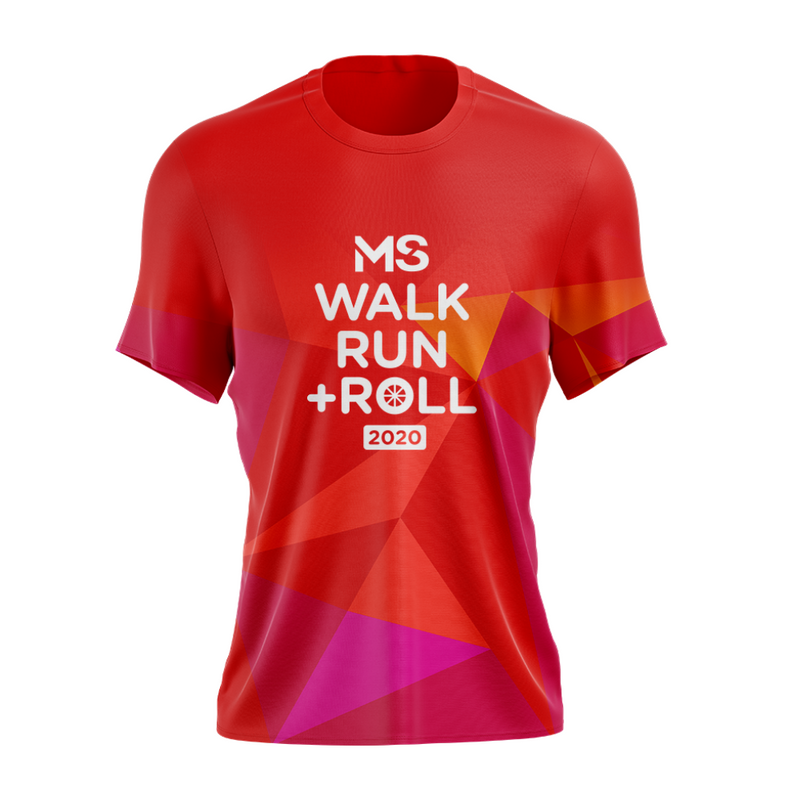 MS Walk Run + Roll 2020 Event Run Shirt - MENS