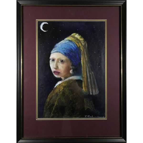 GIRL WITH PEARL EARRING AT MIDNIGHT