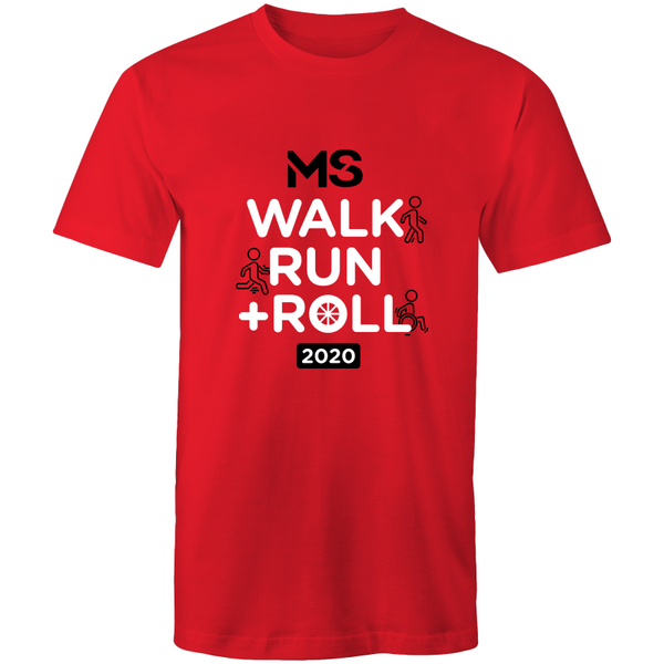 MS Walk Run + Roll 2020 Event T-Shirt - MENS