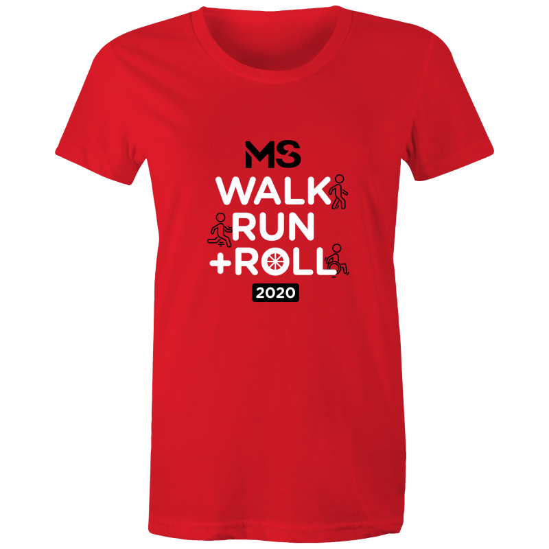 MS Walk Run + Roll 2020 Event T-Shirt - WOMENS