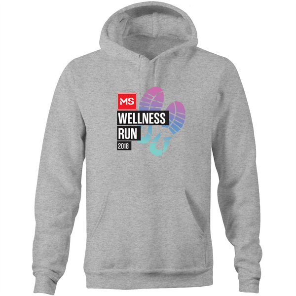 Adult Pocket Hoodie - 2018 MS Wellness Run