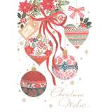 Christmas Cards - Bauble Ornaments (Pack of 10)