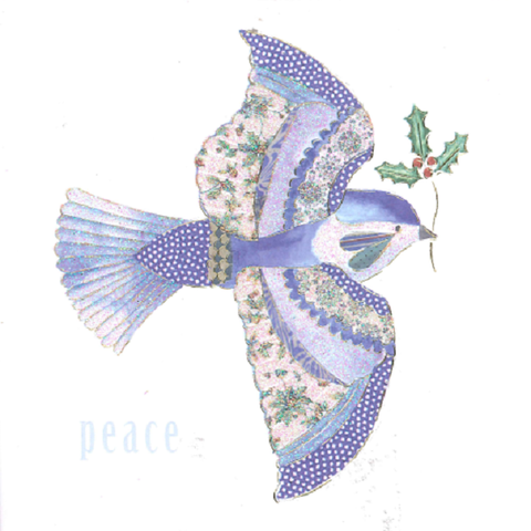 Christmas Cards - Fabric Dove (Pack of 10)