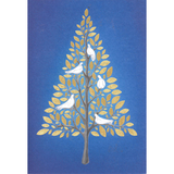 Christmas Cards - Golden Leaves (Pack of 10)
