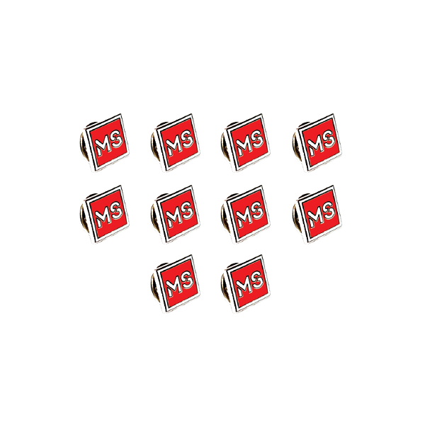 MS Lapel Pins (Pack of 10)