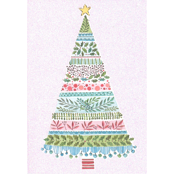 Christmas Cards - Pretty Tree (Pack of 10)