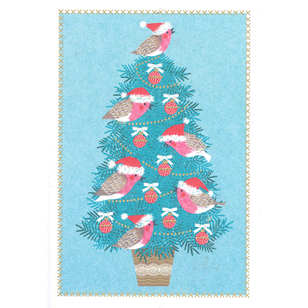 Christmas Cards - Robin Tweets (Pack of 10)