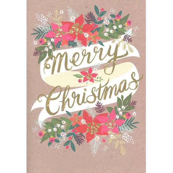 Christmas Cards - Vintage Greetings (Pack of 10)