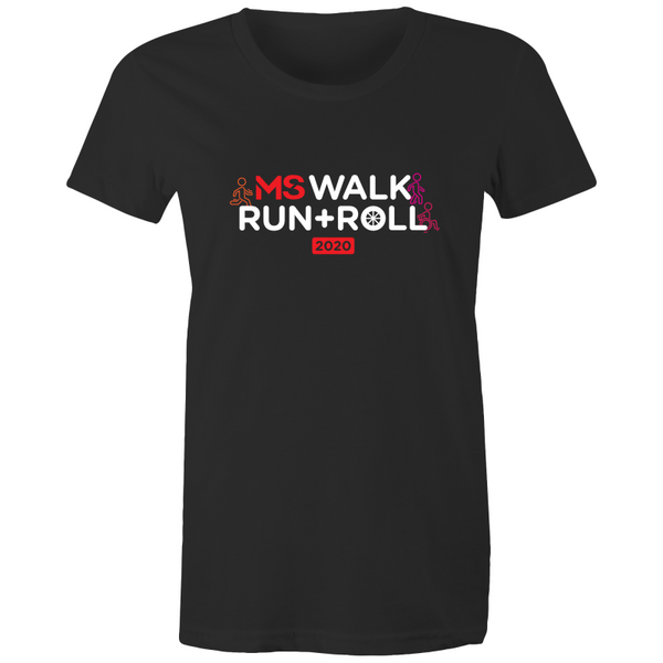 2020 MS Walk Run Roll Icon Tee - WOMENS