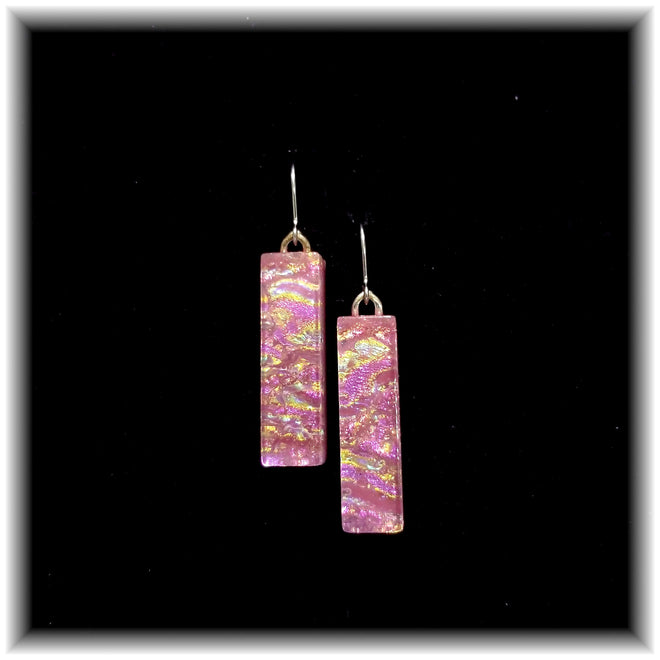Long Rectangle Dangle Earrings