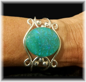 Dichroic Glass filigree Bracelet
