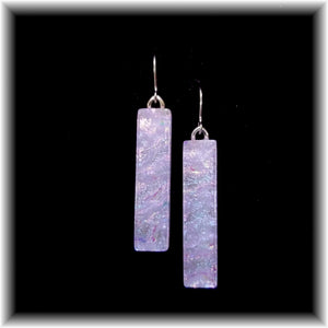 Lavender Long Rectangle Dangle Earrings