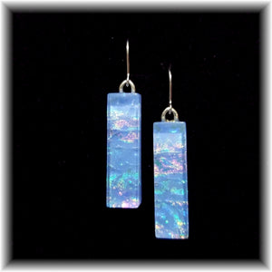 Periwinkle Long Rectangle Dangle Earrings