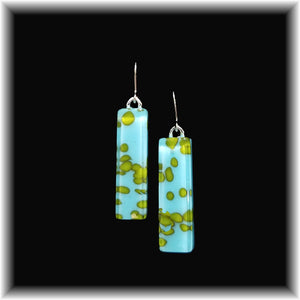World Long Rectangle Dangle Earrings