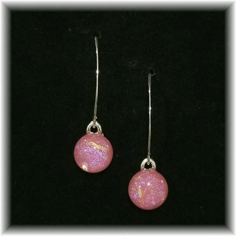 Sterling Dangles - Dark Pink