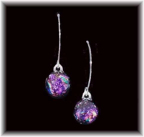 Sterling Dangles - Purple