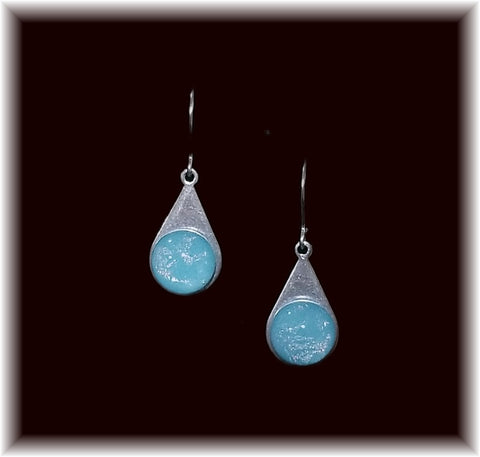 Baby Blue Stainless Teardrop Earring