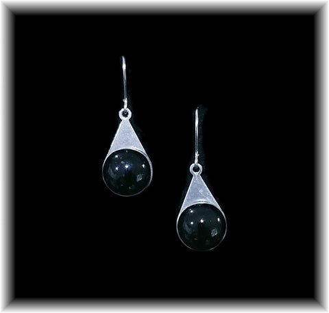 Black Stainless Teardrop Earring